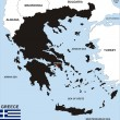 Greece map — Stock Photo