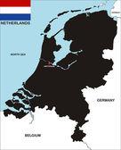 Carte des pays-bas — Photo