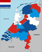 Netherlands map — Stock Photo