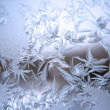 Foto Stock: Frozen winter window