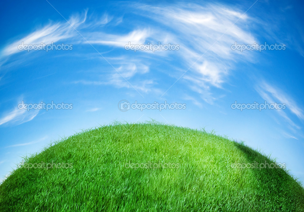Earth globe covered with grass — Stock Photo #8797417