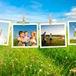 Glad familj collage — Stockfoto #9874994