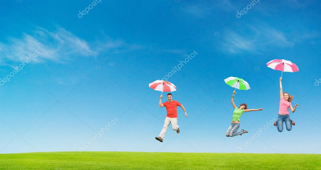 Jumping for fun — Stock Photo #9874986