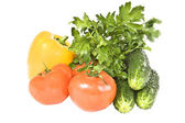 Vegetables on a white background. — Stock Photo