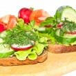 Dietary sandwiches. - Stock Photo