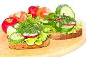 Dietary sandwiches. — Stock Photo