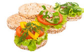 Dietary sandwiches. — Stock Photo