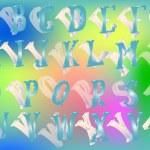 Blue alphabet illustration — Stock Vector