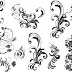 Black plants culrs collection — Stock Vector #8543998
