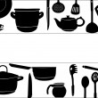 Background with black ware on white - Stock Vector