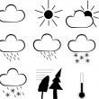 Set of weather icons isolated on white — Stock Vector #8544341