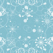 Blue snowflake and circles background — Stock Vector