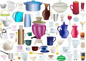 Large collection of isolated ware — Stock Vector
