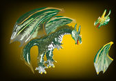 Dragon-green — Stock vektor