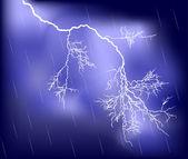 White lightning lila regen himmel — Stockvektor