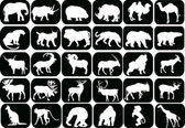 Collection of animals icons — Stock Vector