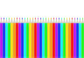 Rainbow color pencils isolated on white — Stock Vector