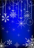Dark blue snowflakes background — Stock Vector