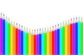 Onda de lápis de cor de arco-íris — Vetorial Stock