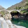 Ponte dei salti bridge in Lavertezzo, Switzerland - Stock Photo