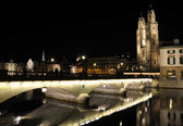 Zurich at night — Foto de Stock