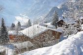 Braunwald, famous Swiss skiing resort — 图库照片