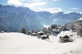 Braunwald, famous Swiss skiing resort — Stockfoto