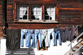 Clothes on the line — Stock Photo