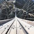 170m hanging Trift bridge, Switzerland — Stock Photo