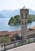 Ossuccio staden på den berömda italienska Comosjön — Stockfoto