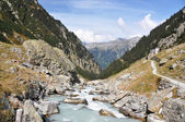 Mointain river in Berner Oberland region of Switzerland — Stock Photo