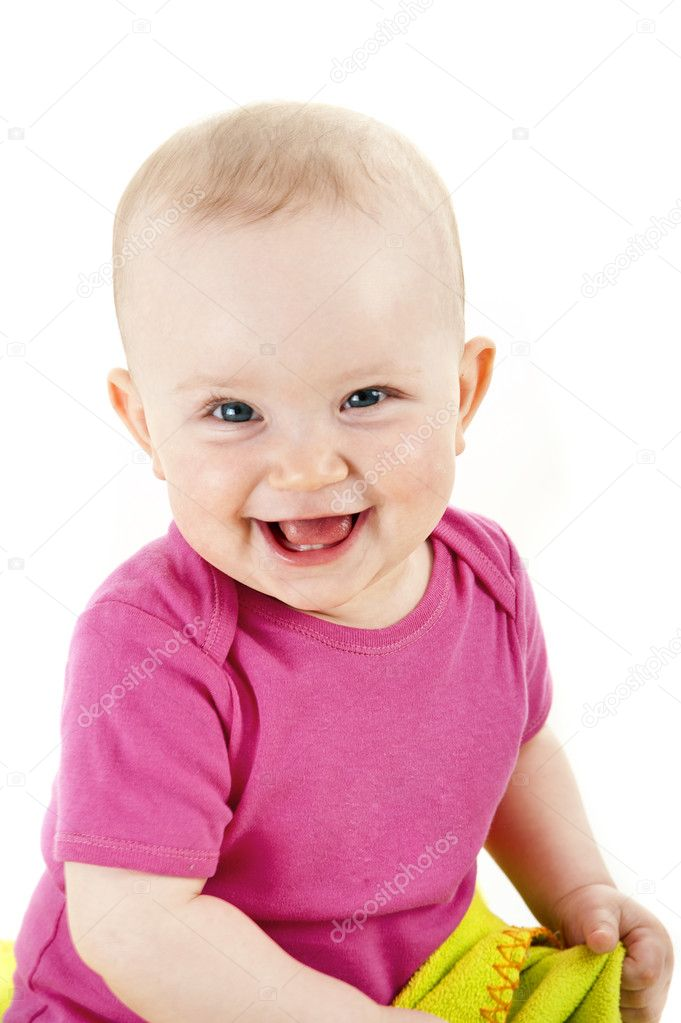 Baby smiling and looking ahead — Stock Photo #10272401