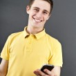 Man holding mobile phone — Stock Photo #8704625