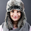 Royalty-Free Stock Photo: Woman in winter hat