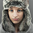 Winter woman — Foto de Stock