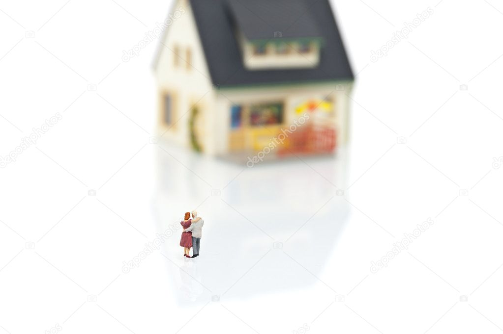 Miniature with house — Stock Photo #9090319