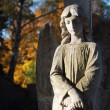 Angel at a Grave - Stock Photo