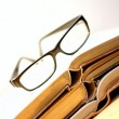 Stock Photo: Books and Glasses