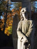 Angel at a Grave — Stock Photo