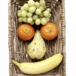 Stock Photo: Funny Fruit Face