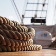 Stock Photo: Rope on Sailing Ship