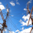 Stock Photo: Sailing Ship Masts