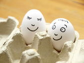 Funny Eggs — Stock Photo
