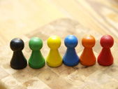 Board Game Pieces — Stock Photo