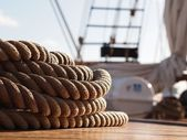 Rope on a Sailing Ship — Stock Photo
