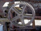 Close up view of gears from old mechanism — Foto de Stock