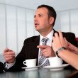 Meeting with boss. - Stock Photo