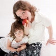 Stock Photo: Mom and daughter having fun - Mother's Day