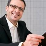 retrato de um homem de negócios de meia-idade feliz — Foto Stock