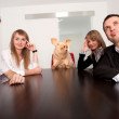 Business meeting with boss - joke — Stock Photo